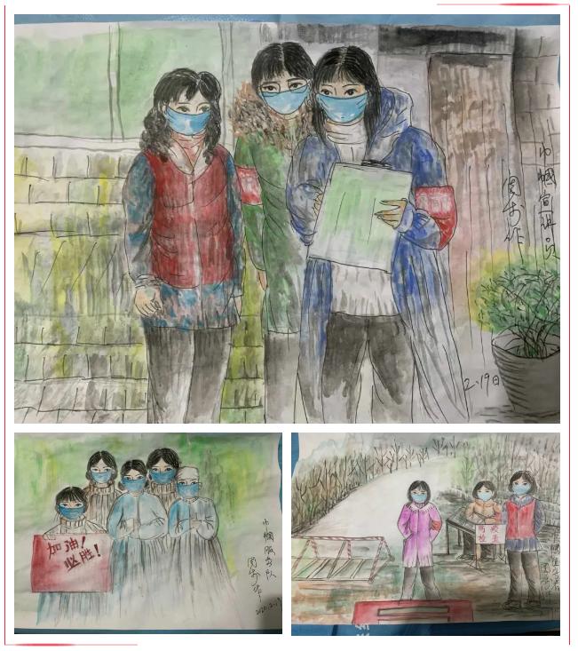 【原创作品选登】用绘画传递抗疫情怀 ——香河县妇联抗击疫情作品(十)